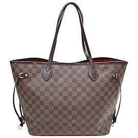 Louis Vuitton Neverfull Mm 870778 Brown Damier Ébène Canvas Shoulder Bag