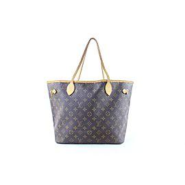 Louis Vuitton Neverfull Monogram Mm 222925 Brown Canvas Shoulder Bag