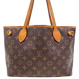Louis Vuitton Neverfull Monogram Pm Tote 230074 Brown Coated Canvas Shoulder Bag