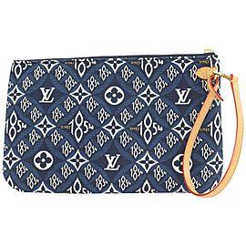 Louis Vuitton Blue Since 1854 Monogram Neverfull Pochette GM Wristlet Bag 19lvs111