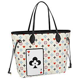 Louis Vuitton Poker White Multicolor Game On Monogram Neverfull MM 861870