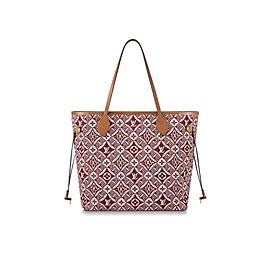 Louis Vuitton Since 1854 Red Bordeaux Neverfull MM Tote 861061