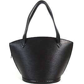 Louis Vuitton Black Epi Noir Saint Jacques Zip Tote 872885
