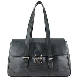 Louis Vuitton Black Epi Leather Noir Segur MM Satchel Bag 671lvs618