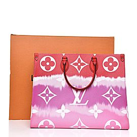 Louis Vuitton Red x Pink Tye Dye Escale Onthego Limited Rare Giants 860308