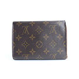 Louis Vuitton Papier Bifold Flap Wallet 17lr0320 Brown Monogram Canvas Clutch