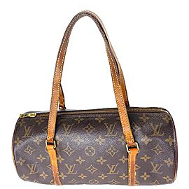 Louis Vuitton Papillon Monogram 14la528 Brown Coated Canvas Satchel