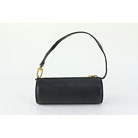 Louis Vuitton Black Epi Leather Mini Soufflot Papillon Wristlet 826lv83
