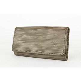 Louis Vuitton Grey Pepper Epi Leather Multicles 4 Key Holder Wallet case 127lvs76