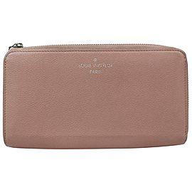 Louis Vuitton Pink Zippy Around Leather Comete V 870982 Wallet