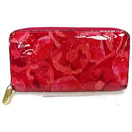 Louis Vuitton Pink Monogram Vernis Rose Ikat Zippy Wallet Zip Around 862988