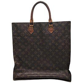 Louis Vuitton Plat Monogram Sac 232548 Brown Coated Canvas Tote