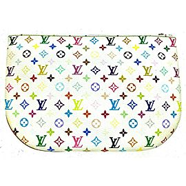 Louis Vuitton White Multicolore Canvas GM Pochette Clutch 2LVA92