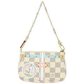 Louis Vuitton Damier Azur Mini Pochette Accessoires St Barth Wristlet Bag 74lvs630