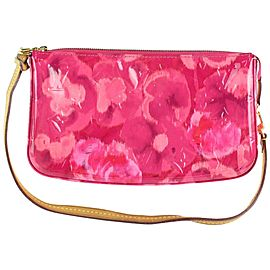 Louis Vuitton Pochette Vernis Ikat Accessories Nm Rose Velours 23lz1130 Pink Patent Leather Clutch