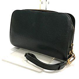 Louis Vuitton Pochette Baikal 234724 Green Taiga Leather Wristlet