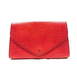 Louis Vuitton Pochette Deco Envelope 236046 Red Epi Leather Clutch