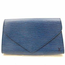 Louis Vuitton Pochette Epi Toledo Art Deco 868569 Blue Leather Clutch