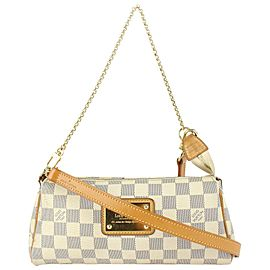 Louis Vuitton Damier Azur Pochette Eva Crossbody Bag Sophie 131lvs77