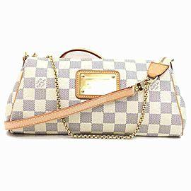 Louis Vuitton Discontinued Damier Azur Pochette Eva Crossbody 2way 860247