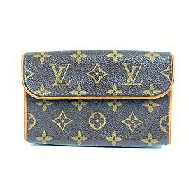 Louis Vuitton Pochette Florentine Belt Bag Monogram Fanny Pack Waist Pouch 11l610 Brown Coated Canvas Clutch