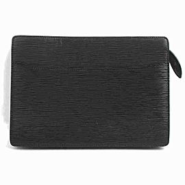 Louis Vuitton Black Epi Pochette Home Envelope Clutch 860457