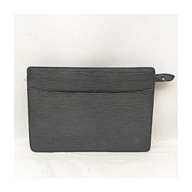 Louis Vuitton Black Epi Leather Pochette Homme Clutch Bag 863148