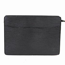 Louis Vuitton Black Epi Leather Noir Pochette Homme Clutch Bag 859116