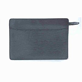 Louis Vuitton Black Epi Noir Pochette Homme Clutch 860193
