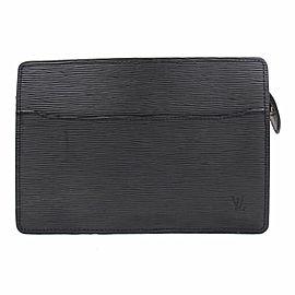 Louis Vuitton Pochette Homme Noir 867832 Black Epi Leather Clutch