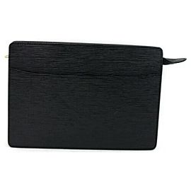 Louis Vuitton Black Epi Noir Pochette Homme Clutch 872921