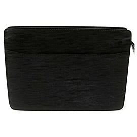 Louis Vuitton Black Epi Noir Pochette Homme Clutch 872977