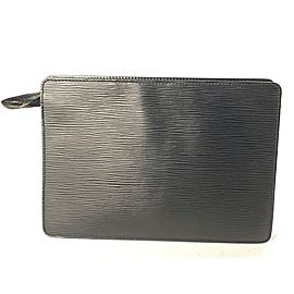Louis Vuitton Pochette Homme Noir 9la527 Black Epi Leather Clutch