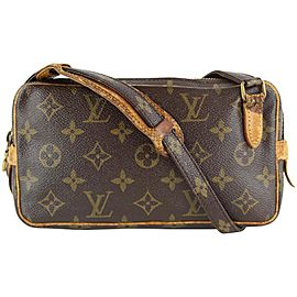 Louis Vuitton Monogram Pochette Marly Bandouliere Crossbody Bag 10LVS1210