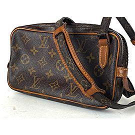 Louis Vuitton Pochette Marly Monogram Bandouliere 2lva628 Brown Coated Canvas Cross Body Bag