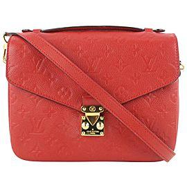 Louis Vuitton Red Empreinte Cerise Leather Monogram Pochette Metis Bag 598lvs615