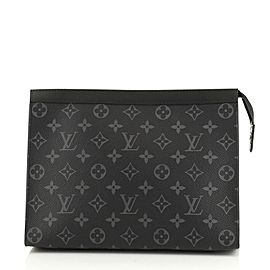 Louis Vuitton Black Monogram Eclipse Pochette Voyage MM 861355