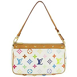 Louis Vuitton Monogram Multicolor Pochette Accessories Wristlet Pouch 861232