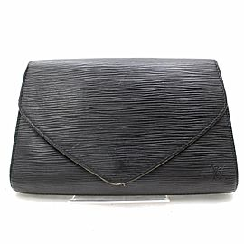 Louis Vuitton Pochette Noir Art Deco 868159 Black Epi Leather Clutch