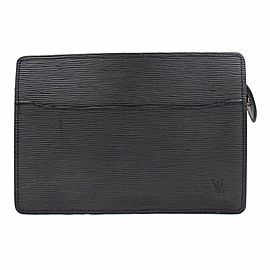 Louis Vuitton Black Epi Noir Pochette Homme 867832