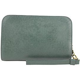 Louis Vuitton Pochette Orsay 2lk1219 Green Taiga Leather Wristlet