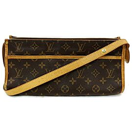 Louis Vuitton Popincourt Long Monogram 872573 Brown Coated Canvas Cross Body Bag