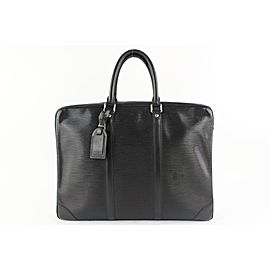 Louis Vuitton Black Epi Noir Porte-Documents Voyage 15lz0914
