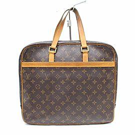 Louis Vuitton Porte Porte-documents Pegase Business Attachel Briefcase 850111 Brown Coated Canvas Tote
