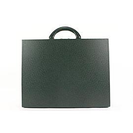 Louis Vuitton Green Taiga President Classeur Attach Hard Trunk Briefcase 1lv62