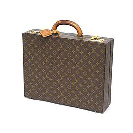 Louis Vuitton President Classuer Attache Briefcase Hard Trunk 239750 Brown Monogram Canvas Laptop Bag