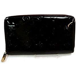 Louis Vuitton Monogram Purple Vernis Zippy Organizer Wallet Zip Around Clutch 862931
