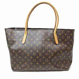 Louis Vuitton Raspail Mm Shopper Tote 871228 Brown Monogram Canvas Shoulder Bag