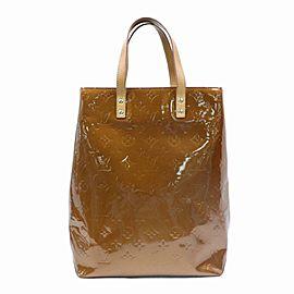 Louis Vuitton Reade Bronze Copper Monogram Vernis Mm 870294 Brown Patent Leather Tote