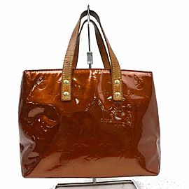 Louis Vuitton Reade Copper Monogram Bronze Pom 870876 Browns Vernis Tote